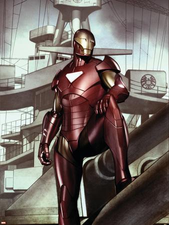 Iron Man: Director Of S.H.I.E.L.D. No.32 Cover: Iron Man Wall Decal by Adi Granov