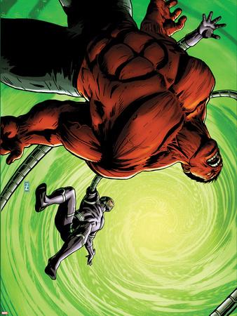 Hulk No.45 Cover: Red Hulk and Machine Man Fighting Wall Decal by Patrick Zircher