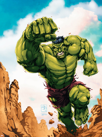 Marvel Age Hulk No.2 Cover: Hulk Wall Decal by Shane Davis