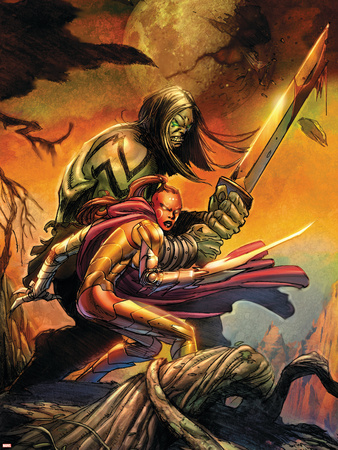 Skaar: Son Of Hulk Cover: Skaar and Omaka Wall Decal by Ron Garney