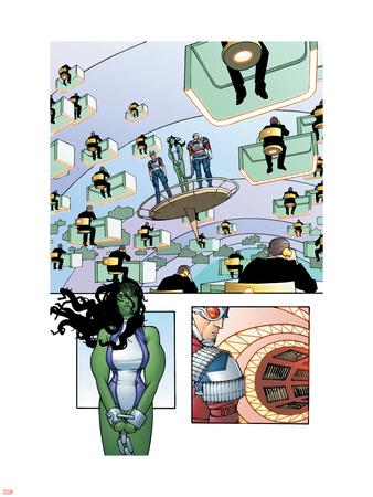 She-Hulk No.3 Cover: She-Hulk Wall Decal by Juan Bobillo