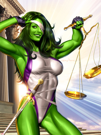 She-Hulk No.1 Cover: She-Hulk Wall Decal