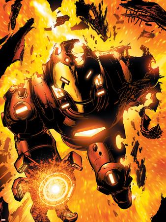 Iron Man: Hypervelocity No.6 Cover: Iron Man Wall Decal by Brian Denham