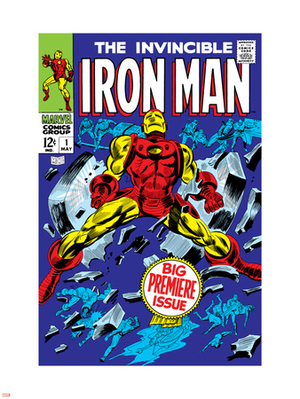 The Invincible Iron Man No.1 Cover: Iron Man Wall Decal by Gene Colan
