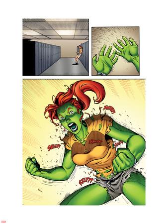 She-Hulks No.2: Lyra Screaming Wall Decal by Ryan Stegman