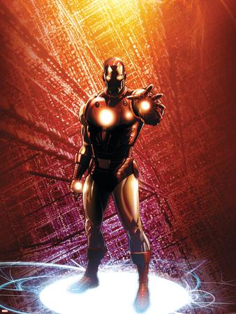 Invincible Iron Man No.14 Cover: Iron Man Wall Decal by Salvador Larroca