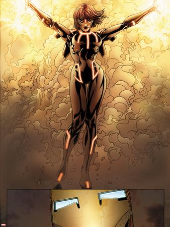 Invincible Iron Man No.516: Firebrand Wall Decal by Salvador Larroca