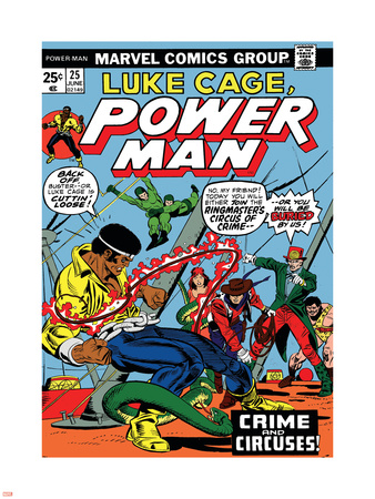 Marvel Comics Retro: Luke Cage, Hero for Hire Comic Book Cover No.25, Crime and Circus Wall Decal