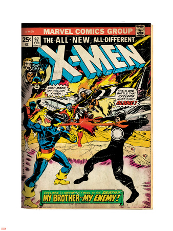 Marvel Comics Retro: The X-Men Comic Book Cover No.97, Havok, My Brother-My Enemy! (aged) Plastic Sign