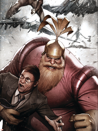 Siege: Embedded No.2 Cover: Volstagg, Wolverine and Spider-Man Wall Decal by Adi Granov
