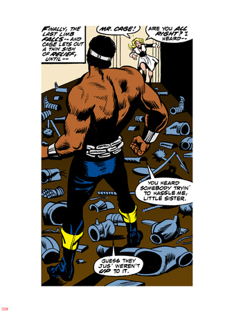 Marvel Comics Retro: Luke Cage, Hero for Hire Comic Panel Wall Decal