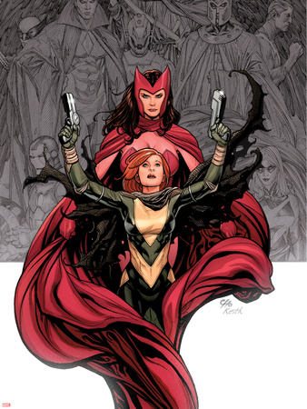 Avengers Vs. X-Men No.0 Cover: Hope Summer and Scarlet Witch Wall Decal by Frank Cho