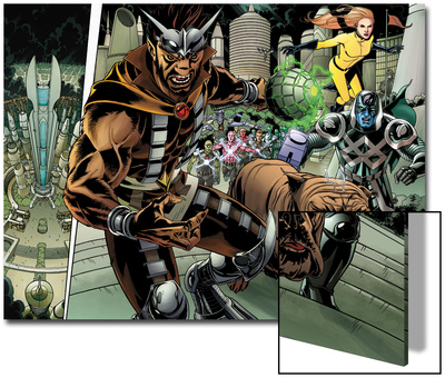Realm of Kings Inhumans No.4 Group: Gorgon, Lockjaw, Ronan the Accuser and Crystal Prints by Pablo Raimondi