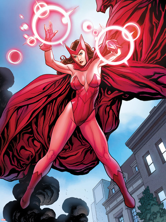 Avengers Vs. X-Men No.0: Scarlet Witch Flying with Energy Wall Decal by Frank Cho