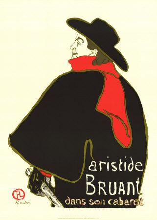 Aristide Bruant Dans Son Cabaret Posters by Henri de Toulouse-Lautrec