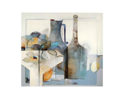 Stilleben mit Flasche Poster by Heinz Hock
