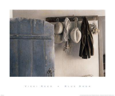 Blue Door Print by Vicki Reed