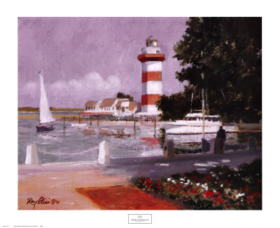 Morning at Harbour Town Posters by Ray Ellis