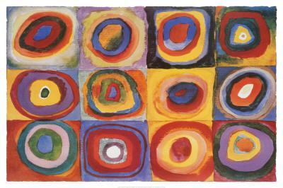 Farbstudie Quadrate, ca.1913 Print van Wassily Kandinsky