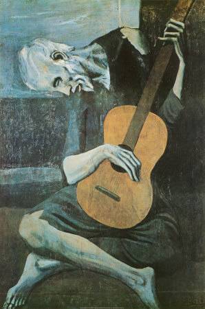 Vanha kitaristi (The Old Guitarist), noin 1903 Juliste
