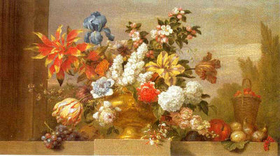 Jarron de Bronce con Flores Posters by Jacob Bogdani
