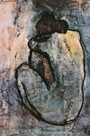 Blauer Akt, ca. 1902 Poster von Pablo Picasso