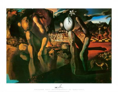 La metamorfosis de Narciso, ca.1937 Lámina