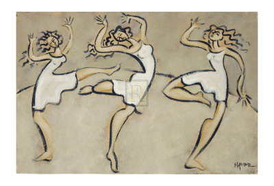 Three Graces Collectable Print by Marsha Hammel