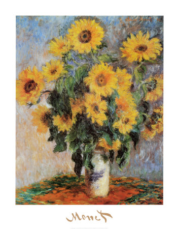 Les tournesols, vers 1881 Reproduction d'art