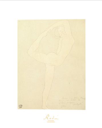 Femme Nue De Profil Prints by Auguste Rodin