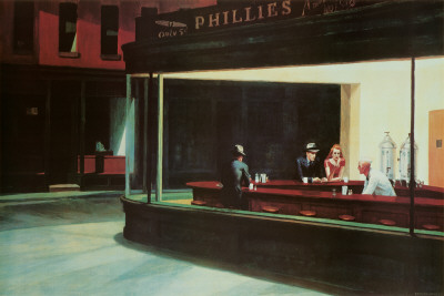 Nachtbrakers, Nighthawks, ca.1942 Affiches van Edward Hopper