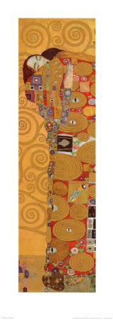 Fulfillment, Stoclet Frieze, c.1909 (detail) Prints by Gustav Klimt