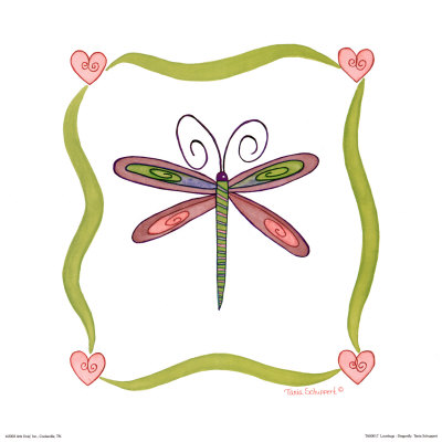 Lovebugs Dragonfly Prints by