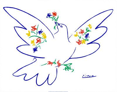 Fredsduva Posters av Pablo Picasso