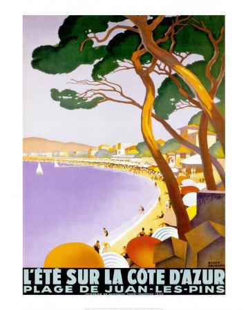 L'Ete sur la Cote d'azur Plakater af Roger Broders