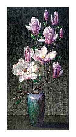 Pink Magnolias Art by Vladimir Tretchikoff