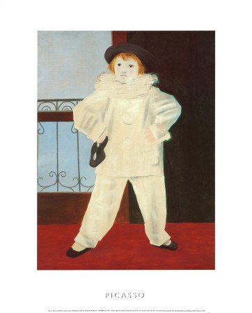 Paul as a Pierrot Prints by Pablo Picasso