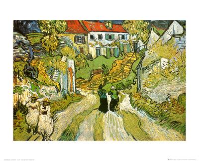 Stairway at Auvers Prints by Vincent van Gogh