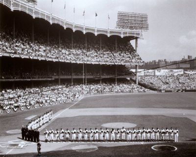 Yankee Stadium Left Field - 1955 World Series Opening Game Photo