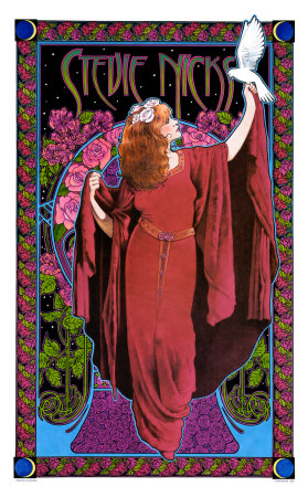 Stevie Nicks, White Winged Dove Art Print
