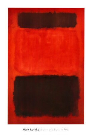 Brown and Black in Reds, 1957 Art by Mark Rothko
