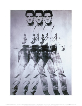 Triple Elvis, 1963 Art Print