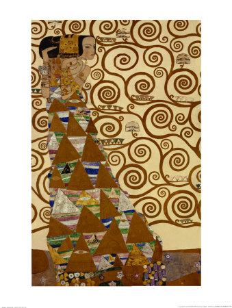 Expectation, Stoclet Frieze, c.1909 Art by Gustav Klimt