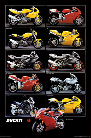 Motorcycle, Ducati Prints
