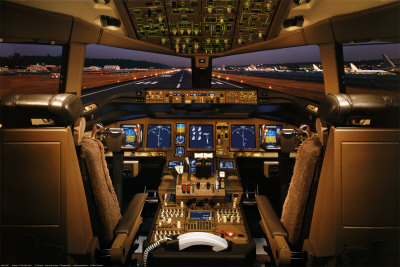 Boeing 777-200 Cockpit Poster