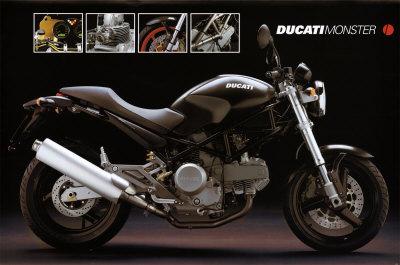Motorcycle, Ducati Monster Prints