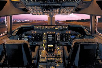 Boeing 747-400 Flight Deck Posters