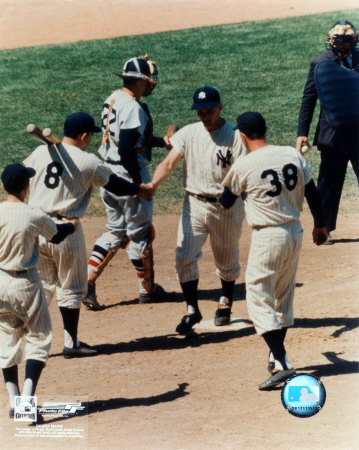 Roger Maris -  6 Shaking hands at homeplate Photo