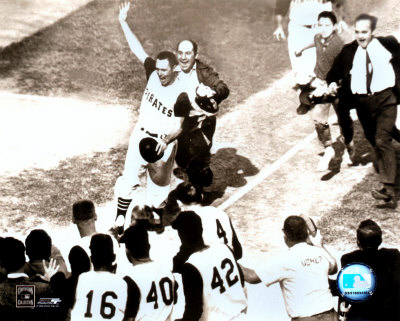 Bill Mazeroski - 1960 World Series Winning Home Run, sepia Photo