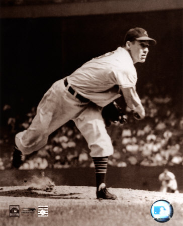 Bob Feller - Pitching, sepia Photo